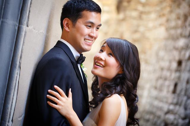 Intimate protestant wedding
