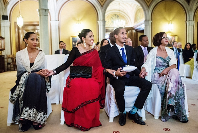 A multicultural wedding in Barcelona