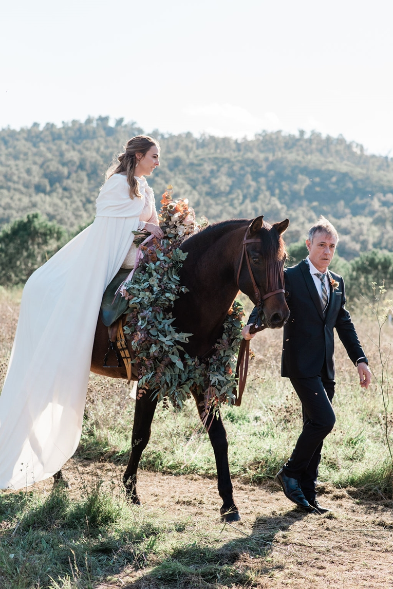 Bride Riding A Horse To The Aisle Marry Me In Spain